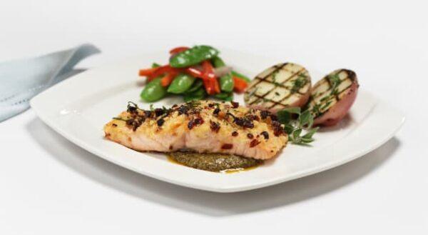"""Crusted Salmon """"Italiano"""""""